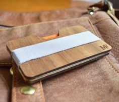 Personalised Business Card Holder Wood Wallet In Personalized