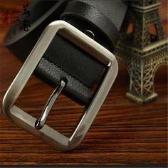 Aliexpress.com : Buy Man Fashion!Cowskin Genuine Leather Strap Male Belt Good Quality Brand Men'S Designer Pin Buckle Belts For Men Black Cinto from Reliable belt suppliers on YanYang International Company Ltd. Waist Belts, Man Fashion, Belt Buckles, Leather, Stuff To Buy, Black, Design, Moda Masculina, Belt