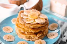 Recipe of the Day ~ Coconut Banana Pancakes   #CoconutBananaPancakes #VeganBrunch #veganpancakes #Veganrecipes #holidayseasonfavoriterecipes #recipes #recipeoftheday #goodnessg