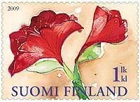 Joulupostimerkki 2009 - Amaryllis  Christmas stamp 2009 Finland