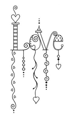 Darling Dangles for Your Bullet Journal Hand Lettering Alphabet, Doodle Lettering, Creative Lettering, Doodle Fonts, Graffiti Alphabet, Doodle Drawings, Easy Drawings, Chalkboard Art, Embroidery Patterns