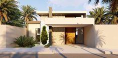 100 fachadas de casas modernas e incríveis para inspirar seu projeto Architectural Design House Plans, Architecture Design, Driveway Design, House Front Design, House Paint Exterior, Entrance Gates, Gate Design, Facade House, Luxury Apartments