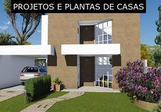 Quer Construir? Veja Plantas e Projetos de Casas Online! Style At Home, Architectural House Plans, Exterior Siding, Suites, Small House Plans, Building A House, Floor Plans, House Design, Flooring