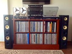 This is my audio system. So proud of it! Turntable: Technics SL-1200M3D, CD Player: Sony CDP-911, Receiver: Yamaha RX-V371. Equalizer: Technics SH-GE70, Blu-Ray Disc Panasonic: DMP-BD75, Reel to Reel Tape Recorder: Akai 4000DB and Speakers Image PSB T6.