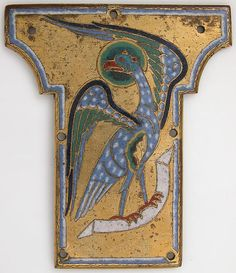 Plaque from a Cross with the Eagle of Saint John | French | The Met