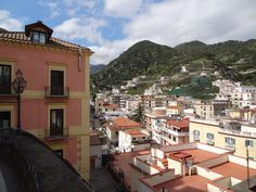 A view of Minori from the Amalfi Hwy