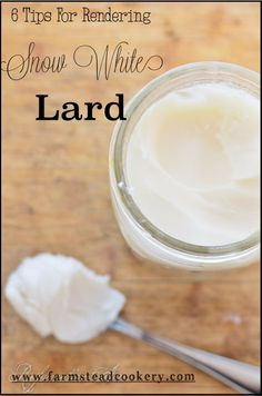 Rendering lard doesn't have to be tricky! Here are 6 tricks I use to get snow white lard. | www.farmsteadcookery.com