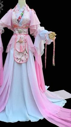 Chinese Traditional Princess Clothing Complete Set