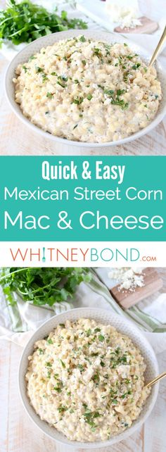 Mexican Street Corn is taken off the cob and tossed into this incredible mac and cheese recipe, which can be served as a side dish or vegetarian entree. #recipe #macandcheese #vegetarian #cooking