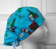Charlie Brown Christmas Tie Back Scrub Hat