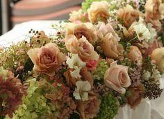 元代々木ハウス様の装花 オードリーとジュリア 2 : 一会 ウエディングの花