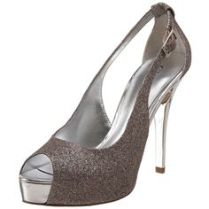 430f1ffed4ae Guess Platform Heels With Multi-Colored Glitter! Beige Pumps