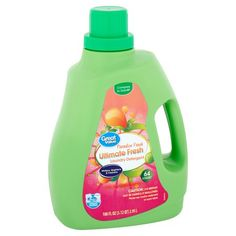 Great Value Ultimate Fresh Original Clean Laundry Detergent, 64 loads, 100 fl oz, Green How To Fold Towels, Liquid Laundry Detergent, Spring Shower, Best Teeth Whitening, Odor Eliminator, Fabric Softener, Cleaning, Paradise, Fresh