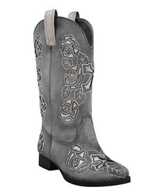 Take a look at this Gray Alamosa Cowboy Boot by Grazie on #zulily today!