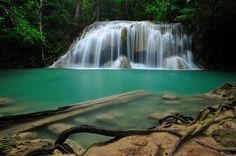 """Erawan Waterfall"" by Photos of Thailand, via 500px."