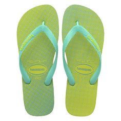 588491e19276f Havaianas Top Gradient Yellow Led Mint Flip Flop