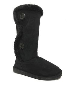Another great find on #zulily! Rockland Footwear Black Double Button Boot by Rockland Footwear #zulilyfinds