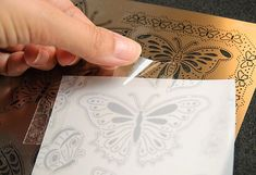 Parchment craft tutorial with Pergamano Multi Grids