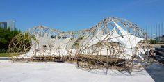 pulse pavilion bamboo sculpture by the university of st. joseph - designboom