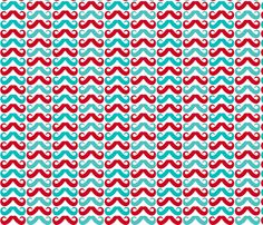 carnival moustaches fabric by risarocksit on Spoonflower - custom fabric