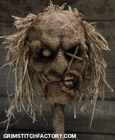 """ snarl "" One-of-a-Kind handmade Scarecrow totem"
