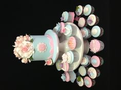 Vintage 21st birthday cake and cupcakes made by @sweetsbysuzie Melbourne
