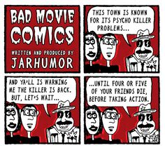 Bad Movie Comic by JARHUMOR Inspired by Friday the 13th Part VI: Jason Lives #funny #webcomic #horror