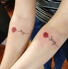 54 Small Meaningful Tattoos For Women - Page 3 of 6 - Stylish Bunny Bff Tattoos, Mini Tattoos, Friend Tattoos, Rose Tattoos, Body Art Tattoos, Small Tattoos, Tattos, Mother Daughter Tattoos, Tattoos For Daughters