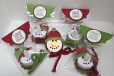 Snowman tealight group  use as a pin