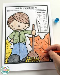 Fall themed Print and Go Articulation Activities for Speech Therapy by teachingtalking.com