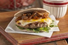 Sweet Vidalia onions and Colby Jack cheese make these BBQ sauce-spiked ground turkey burgers a favorite of cowboys and cowgirls alike.