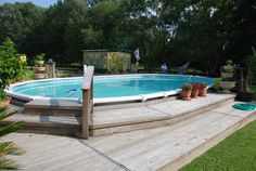 16' x 32' AG Pool and Deck