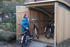 Would like to know about big shed plans? Then this is without doubt the right place! Motorbike Cover, Outdoor Bike Storage, Farmhouse Sheds, Big Sheds, Shed Storage, Shed Plans, House Front, Play Houses, Architecture Design
