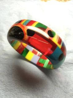 signed shultz bakelite bracelet