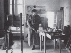 Christian Bérard in the studio at Fourques, 1940Christian Berard