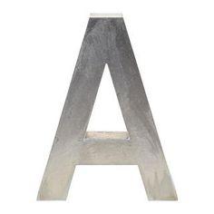 """Aluminum """"A"""" Letter"""