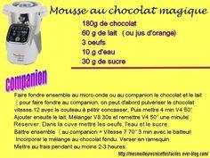 Mousse au chocolat magique (au companion... ou pas) Cake Factory, Jus D'orange, Deserts, Easy, Grands Parents, Pizza, Roses, Food, Magic Chocolate