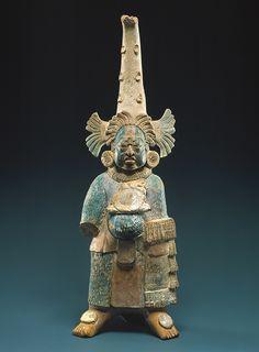 Figura Costumed [México; Maya], s. VII-VIII, cerámica, pigmentos (1979.206.953) | Heilbrunn Cronología de la Historia del Arte | El Museo Metropolitano de Arte
