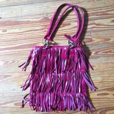 Purse Stylish, Leather,  Fringe hand bag Volare Group Bags Shoulder Bags