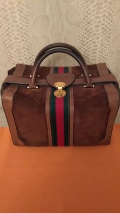 c6664b9f7ad6 Currently at the #Catawiki auctions: Gucci Travel bag - Vintage Gucci  Travel Bag,