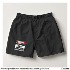 Warning Water Polo Player Hard At Work Boxers - Dashing Cotton Underwear And Sleepwear By Talented Fashion And Graphic Designers - #underwear #boxershorts #boxers #mensfashion #apparel #shopping #bargain #sale #outfit #stylish #cool #graphicdesign #trendy #fashion #design #fashiondesign #designer #fashiondesigner #style