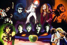 Elvis+Presley,+The+Beatles,+Jimi+Hendrix,+Janis+Joplin,+Jim+Morrison,+Carlos+Santana+by+Hector-Monroy