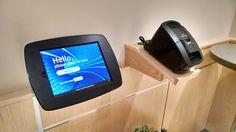 Nice 'home-made' holder for the printer at FairPoint Communications Kiosk, Printer, Homemade, Nice, Projects, Log Projects, Blue Prints, Home Made, Printers