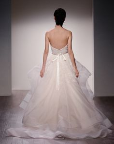 Lazaro Style 3601 / Back View / Spring 2016 bridal collection
