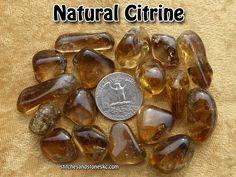 Citrine NATURAL tumbled stone