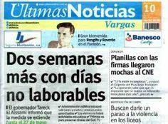 Últimas Noticias Vargas martes 10 de mayo de  2016