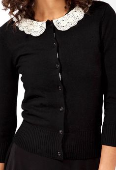 Crochet Collar Cardigan | FOREVER21 - 2027704580
