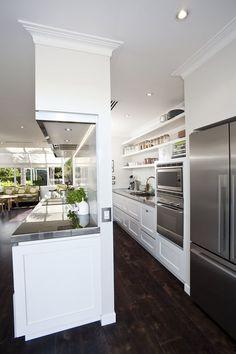 New Kitchen Wall Design Modern 27 Ideas Kitchen Pantry Design, Kitchen Pantry Cabinets, New Kitchen Designs, Modern Kitchen Design, Home Decor Kitchen, Kitchen Interior, Kitchen Storage, Home Kitchens, Open Cabinets