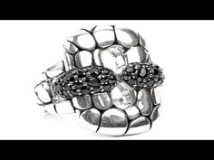 To buy now click on the link: http://shrsl.com/?~3fb0  This #John #Hardy Sterling #Silver #Kali #Black Sapphire #Ring features a rectangular sterling #silver center piece with classic #Hardy #Dot pattern accented with #gorgeous #black #sapphires. Center piece is 1 inch by 0.7 inches.