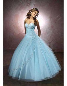 7e52d39f0 luxusní světle modré plesové šaty na maturitní ples XXL-3XL - Hollywood  Style E-
